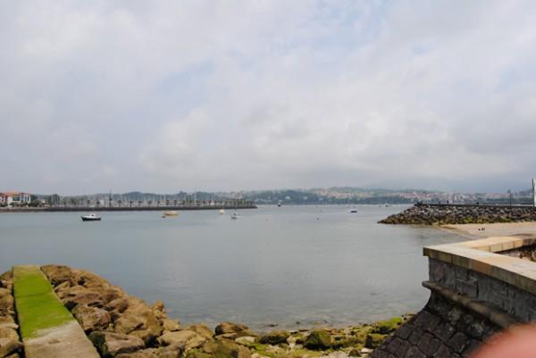 Baie d'Hendaye vue de Fontarabie